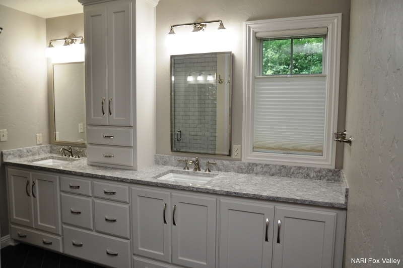 Residential Bathroom $25,000 to $50,000 - After by Welhouse Construction Services, LLC